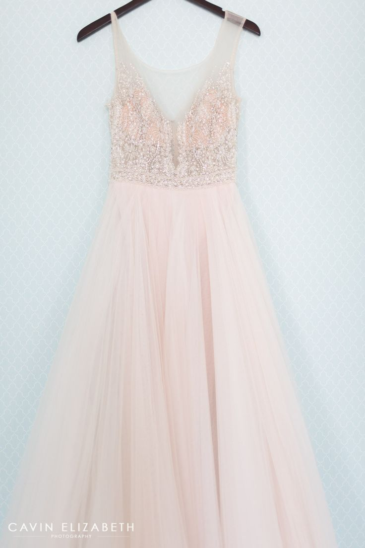 blush pink wedding dress wedding dresses pink Darlington House Wedding