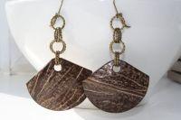 Coconut Jewelry Coconut Earrings Coconut Fan by ...