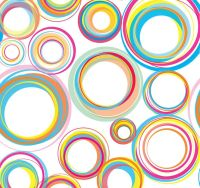 42 best images about Circle Theme Wallpaper for Wall Decor ...