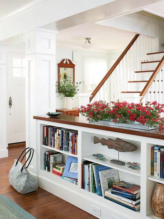 I Love The Idea Of A Short Bookshelf To Divide A Room