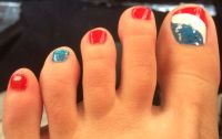 4th of July toe nail art | Toe nail art | Pinterest | Nail ...