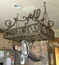 Wrought Iron Pot Rack | Homes/Design/Decor | Pinterest ...