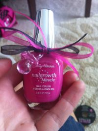 Pink girl baby shower favor ideas polish passifier ribbon ...