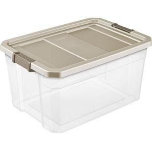 Sterilite 19 Gallon 76 Quart Stacker Storage Bins Clear