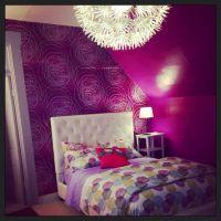 Purple silver tween bedroom Ikea bedding | Tween bedroom ...