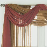 17 Best ideas about Scarf Valance on Pinterest   Curtain ...
