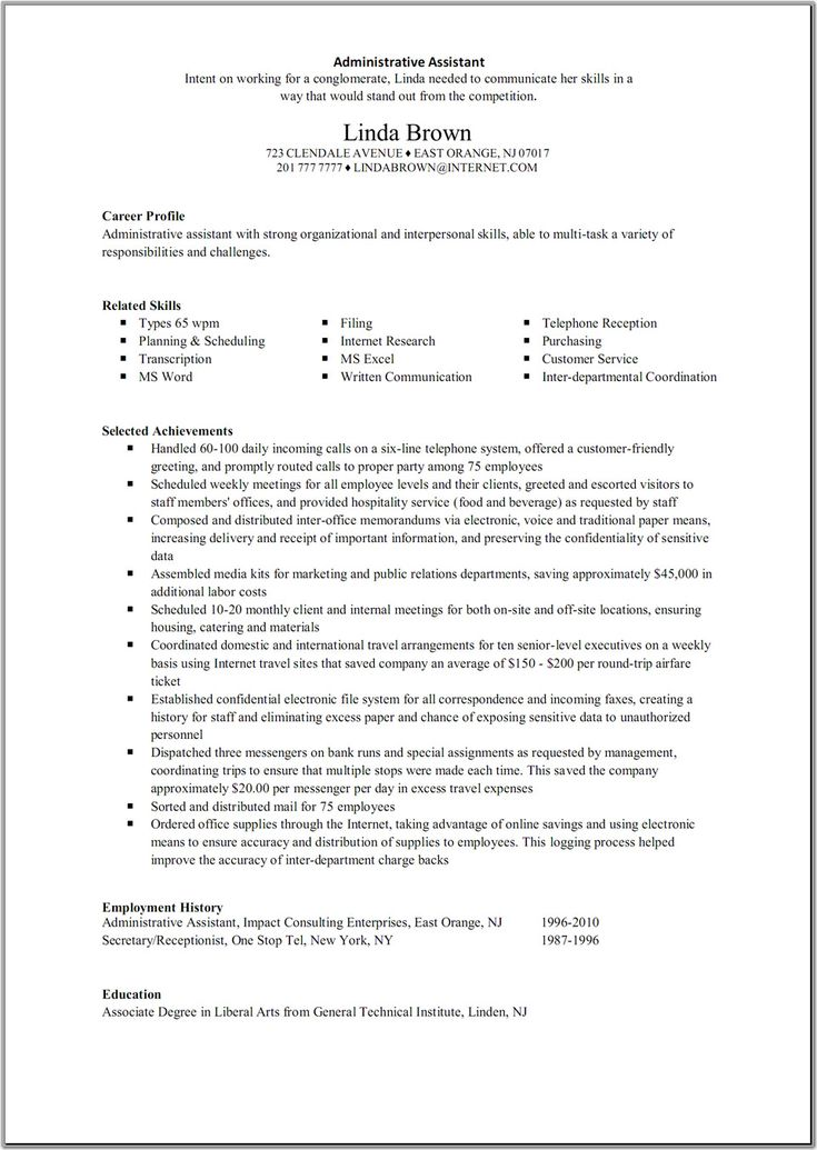 Executive Summary Example Resume Project Management Executive - examples of resumes for jobs