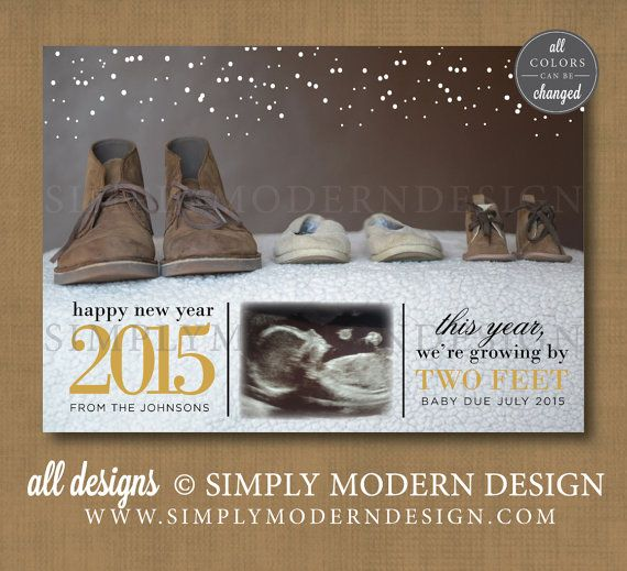baby announcement christmas card