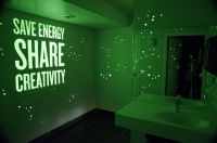 Glow in the dark paint on walls, perfect for the bathroom ...