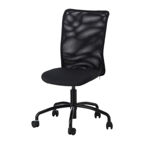 Torbjorn Ikea Swivel Rolling Office Chair - Neat Patterned Back, No Arms