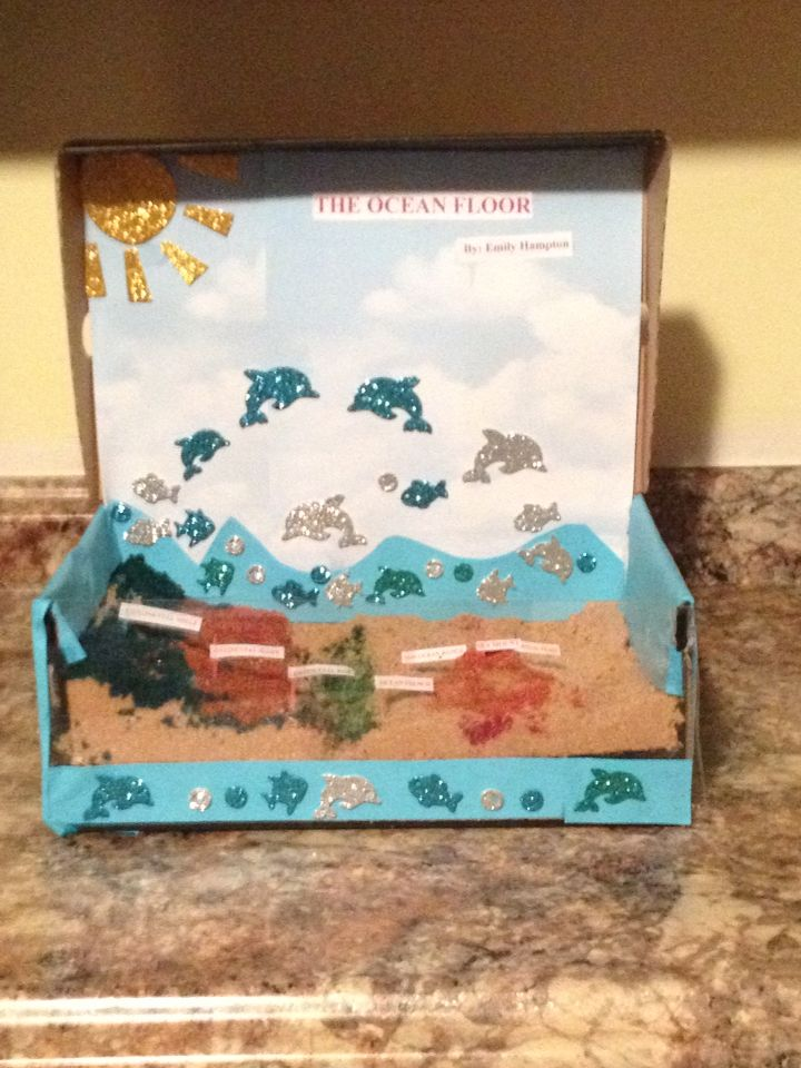 A Ocean Floor Project Made Out Of Brown Sugar Science