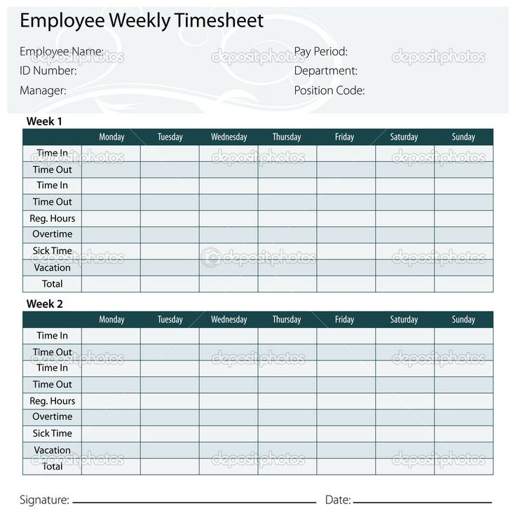 microsoft office timesheet