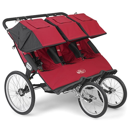 Abc Triple Stroller Baby Jogger Q Series Triple Stroller In Red Baby Jogger