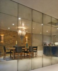 Antiqued mirror feature wall | Living Room | Pinterest ...