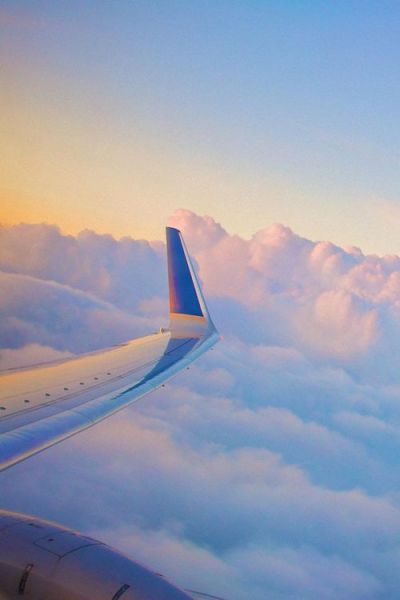 PLANE CLOUDS WING VIEW | Mobile HD Wallpapers | Pinterest | Wings, Planes and Cloud