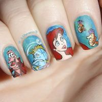 Ariel Inspired Nails. #thelittlemermaid | Disney Inspired ...