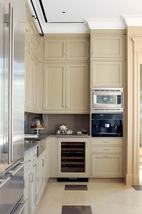 Beige Kitchen Stone countertops, stainless steel ...