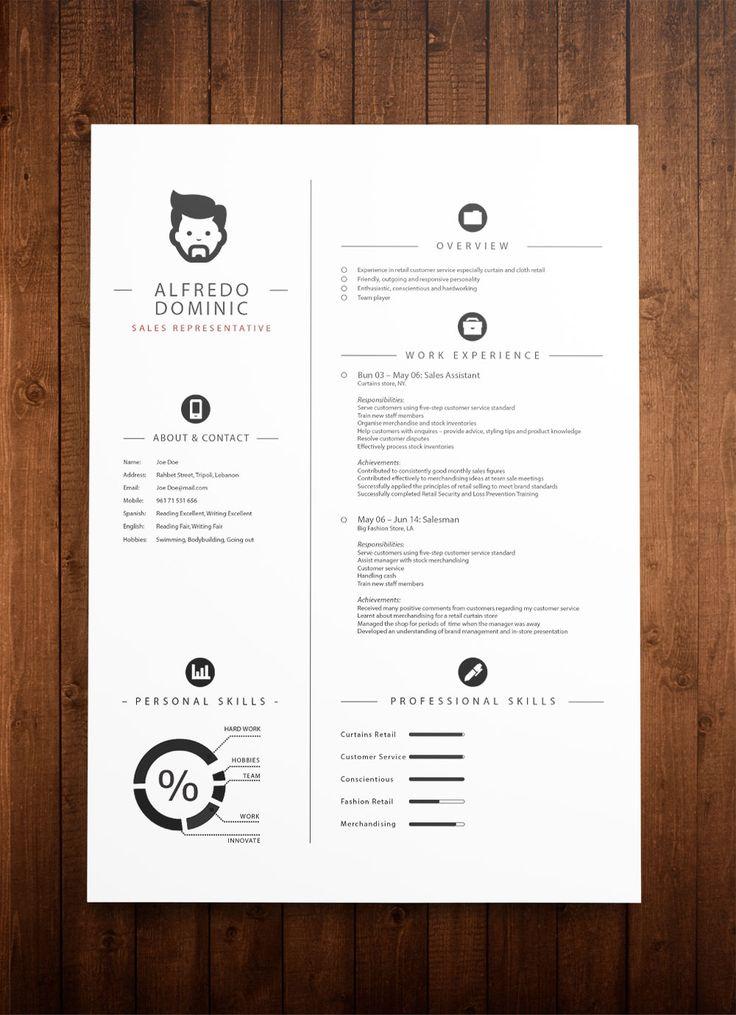 cv template affinity designer