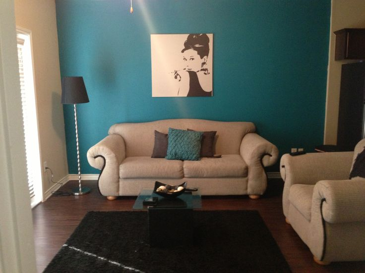 Grey Sofa Teal Walls 50s Glam, Teal, Grey, And Black Living Room | For The Home