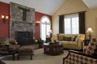 Burgundy accent wall   Living Room Ideas   Pinterest ...