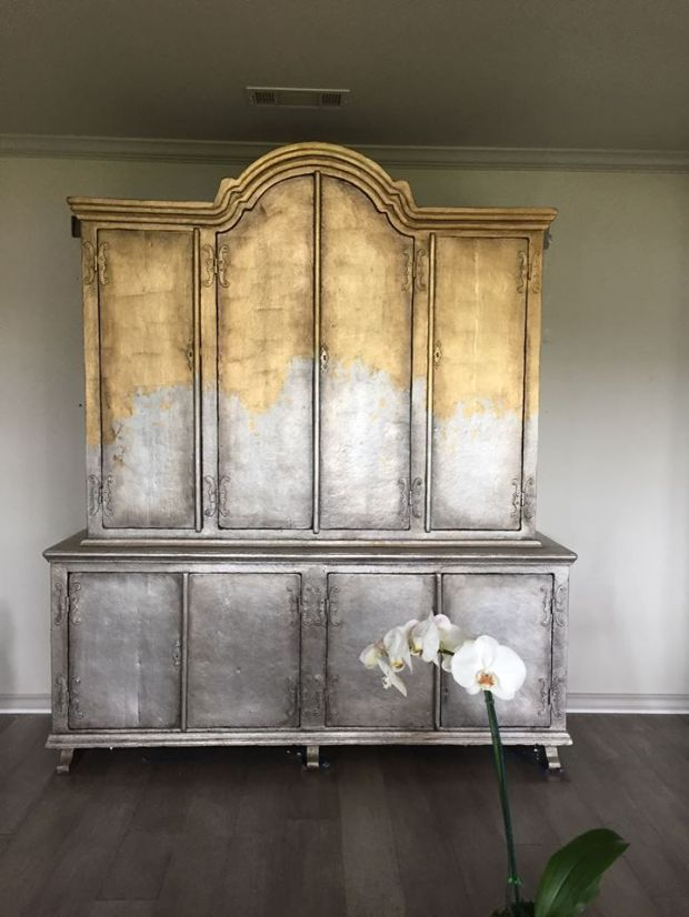 gold leaf furniture ideas silver