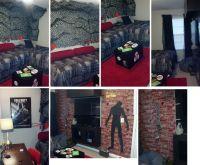 black ops, zombie, camoflage, red rug, teen boy bedroom