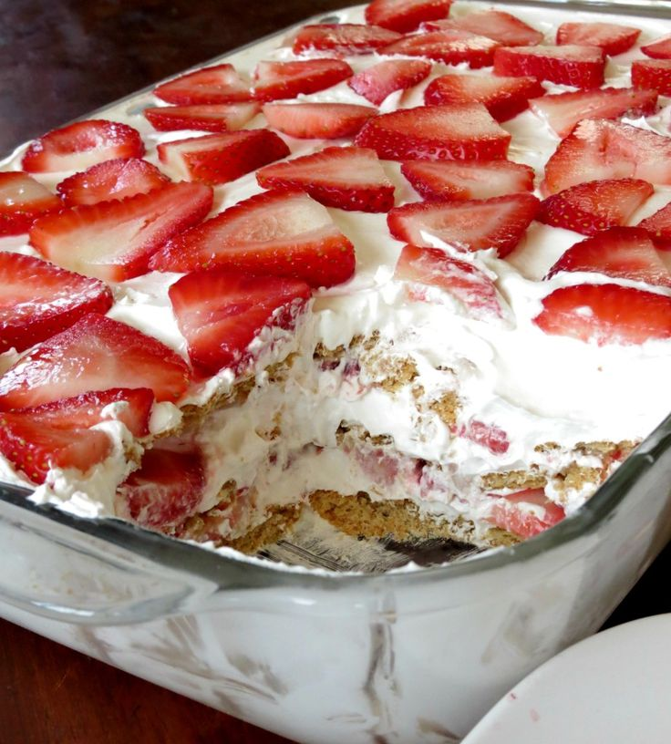 17 Best Ideas About Strawberry Icebox Cake On Pinterest | Baked