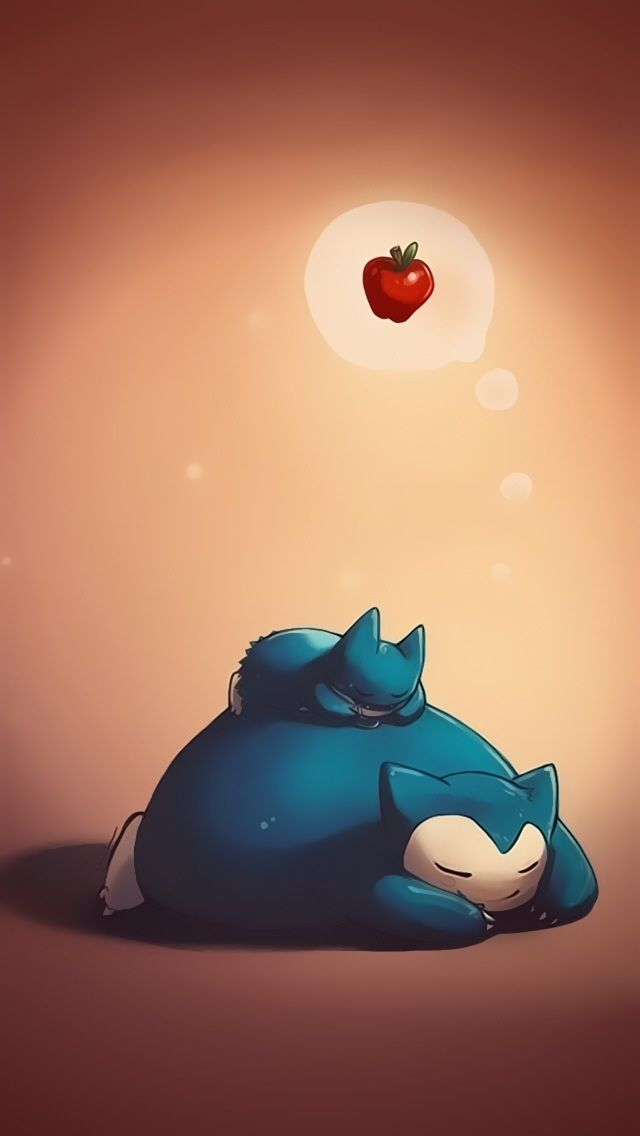 Mobile9 Cute Wallpapers Snorlax And Munchlax Cute Pokemon Iphone Wallpapers