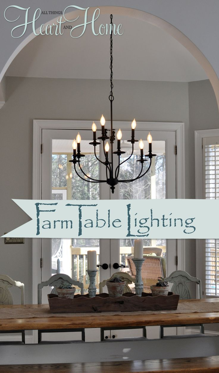 kitchen bath lighting kitchen lights over table Lighting over the Farmhouse Table