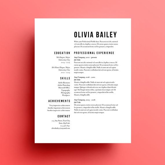 presentation cv simple mais esthetique