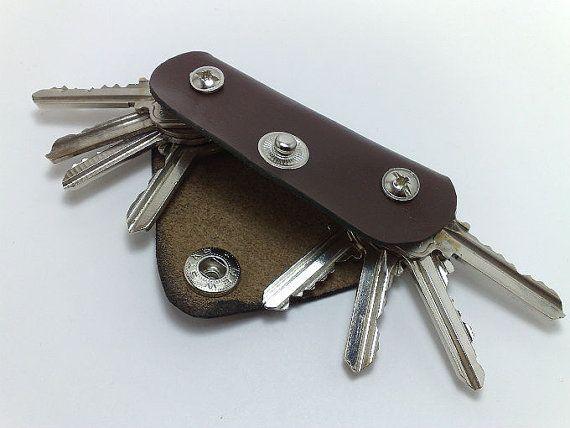 Extremely Convenient Keychain Key Holder From Dark Brown