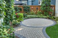 Victorian Natural Paving Stone circle with Charcoal Border ...