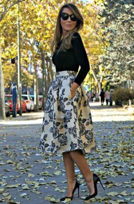 Midi skirt: