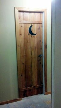 My outhouse bathroom door | My Outhouse themed bathroom ...
