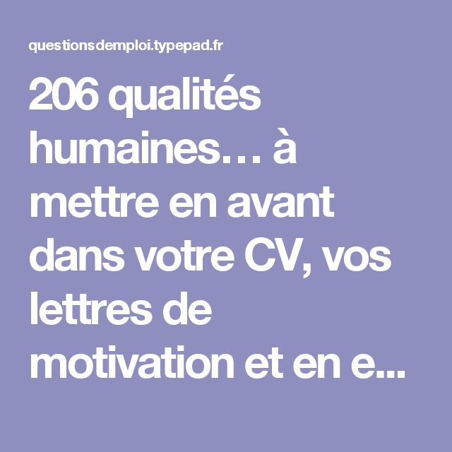 cv avant la lettre de motivation