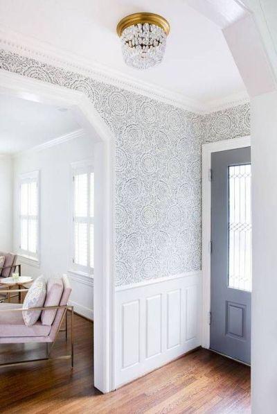 25+ best ideas about Foyer wallpaper on Pinterest | Hallway wallpaper, Grass cloth wallpaper and ...
