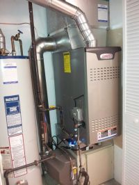 Lennox downflow 2 - stage furnace, bypass humidifier, and ...