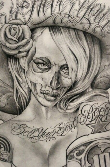 Pitbulls And Girls Wallpaper Boog Chicano Woman Tattoo Ink Inkspiration