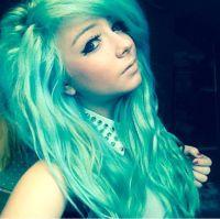 Manic Panic Panic Atomic Turquoise and Voodoo Blue hair ...