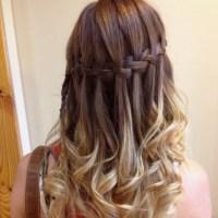 Ombr Waterfall braid   Hair & Makeup   Pinterest ...
