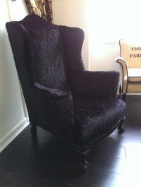 Victorian Gothic Armchair, upholstered in Andrew Martin ...