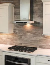 Porcelain floor tile with a #gray #woodgrain pattern is ...