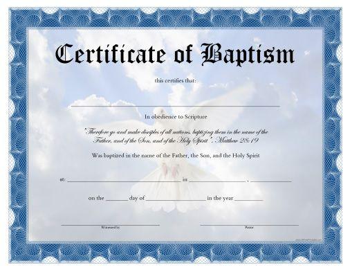 free printable baptism certificates