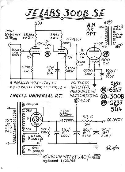 up 300b se amplifier from je lab je lab is