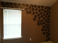 leopard painted wall.