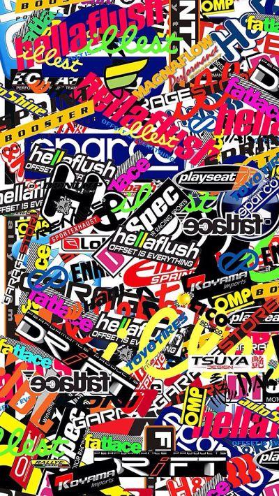 Wallpaper ( sticker bomb ) | Wallpaper | Pinterest | Wallpaper stickers, Stickers and Free stickers