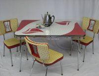Mid Century Modern vintage retro kitchen set table and ...