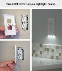 LED night light outlet covers install in seconds, use just ...