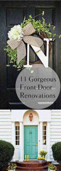 Best 25+ Front door decor ideas on Pinterest   Letter door ...