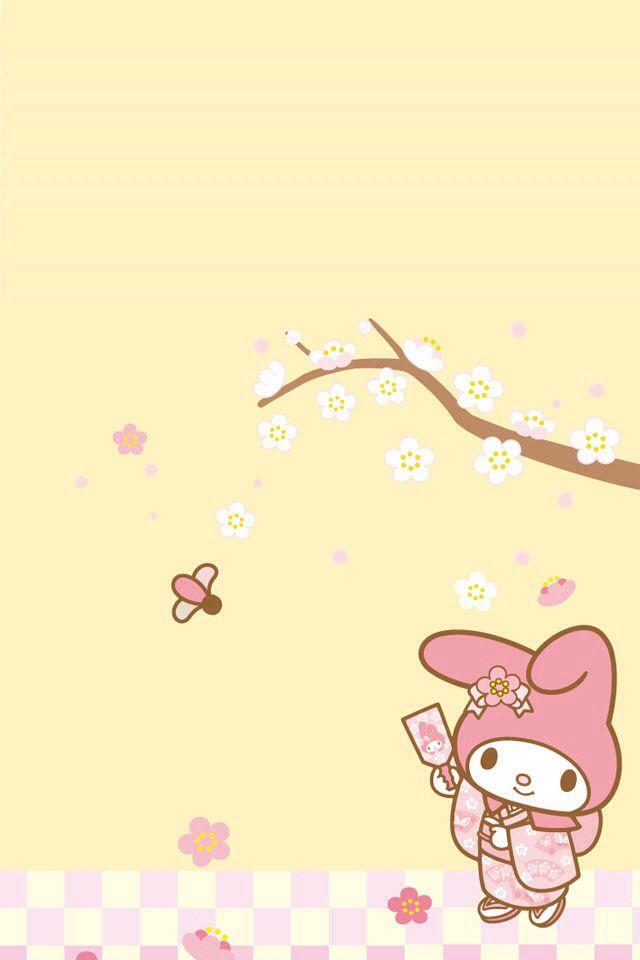 Hello Kitty Cute Sanrio Wallpaper My Melody In Kimono